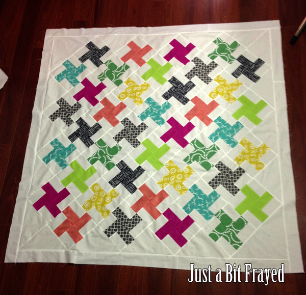 Pinwheel Quilt Top by Just a Bit Frayed